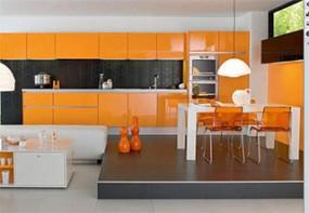 Kitchen Set Bernuansa Orange Lunarfurniture Com Lunarfurniture Com